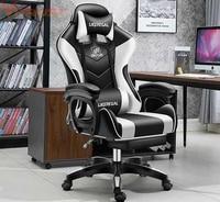 Gaming Racing Stil Büro Stuhl mit Abnehmbare Kopfstütze und Hohe Zurück Ergonomische Gaming Stuhl Top Gamer Racing Sitz-in Bürostühle aus Möbel bei