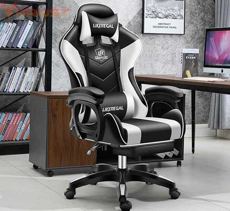 Gaming Racing Style Office Chair with Removable Headrest and High Back Ergonomic Gaming Chair Top Gamer Racing Seat