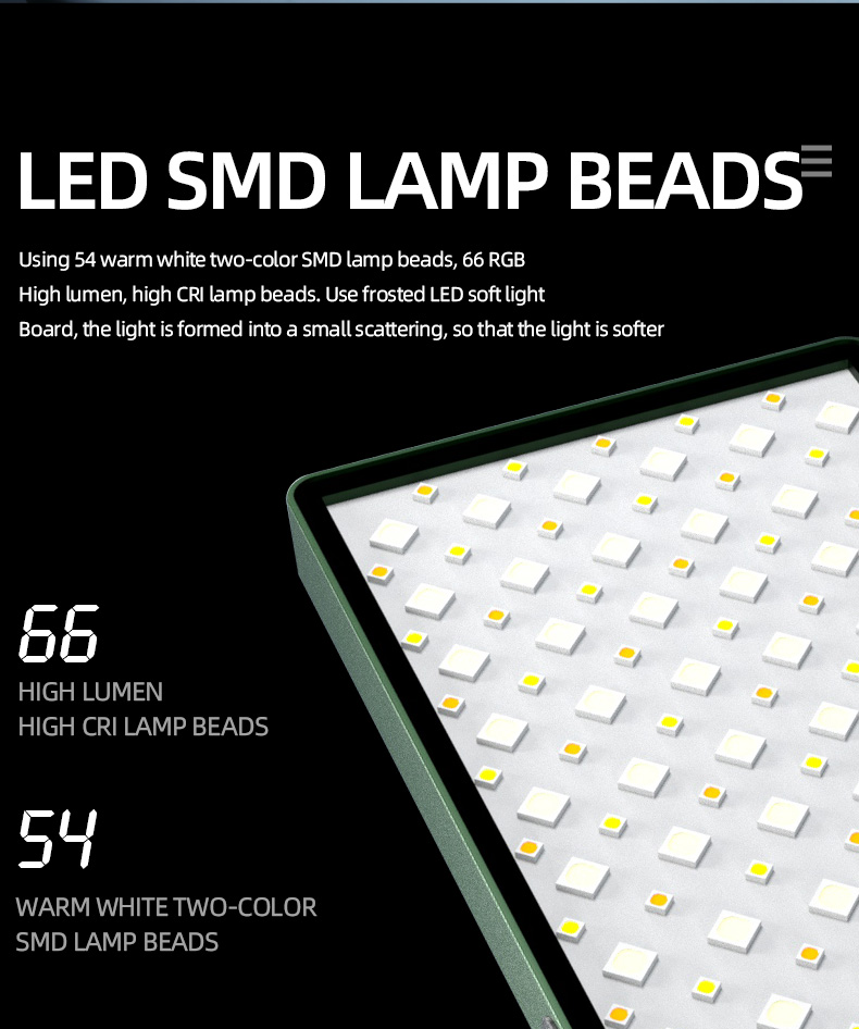 Hcbc08840b57143b1a9169c3cd2f793e8w soonpho RGB LED Camera Light Full Color Output Video Light Kit Dimmable 2500K-8500K Bi-Color Panel Light CRI 95+