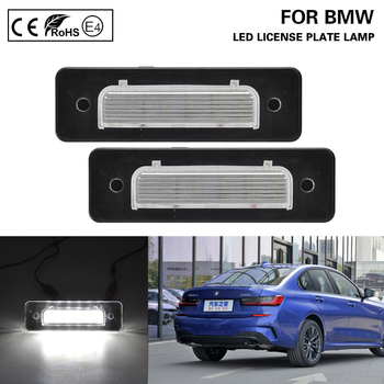 2Pcs For BMW E30 E12 E28 E24 E23 E26 Z1Roadster LED License Plate Light Number Plate Lamp Car Accessories Error Free image