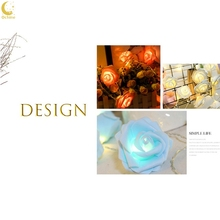 LED Rose Light String Christmas Day Wedding Decoration Simulation Flower Battery