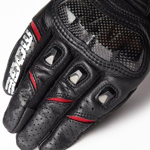 Image 5 - Luvas de couro para motocicleta, luvas de couro para motocicleta, motocross, dedos completos, M XXL
