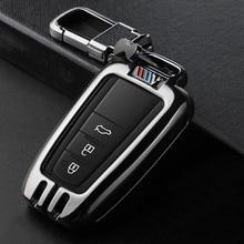 Metal Sport Car Key Case Cover Fob Bag Suitable For TOYOTA CAMRY V7 VA7 VH7 CHR X1 COROLLA E21 RAV 4 V 5 PRADO AVALON AXXA50