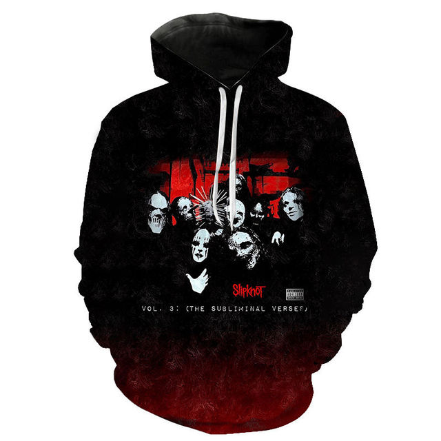 Slipknot 3D Print Hoodies Heavy Metal Rock Band Sweatshirt Men Women Fashion Streetwear Hoodie Hip Hop Pullover Tops Coat Unisex 5