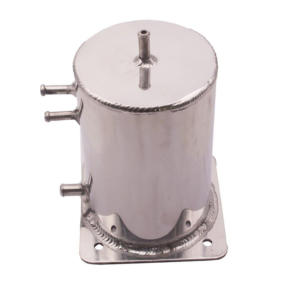2 LT réservoir de surtension de carburant tourbillon Pot miroir en Aluminium poli argent Fit course dérive rallye