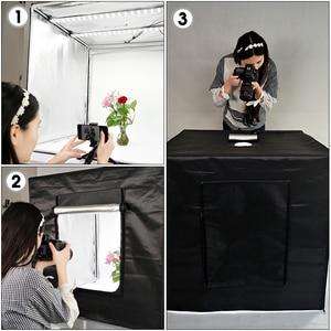 Image 5 - Travor 80*80cm 31.5inch Dimmable Photo Studio Lighting softbox lightbox Folding light Box Photography Backdrop Shooting Tent kit