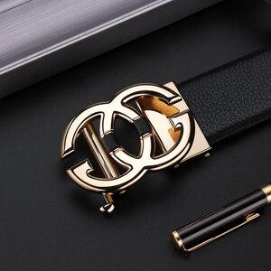 Image 4 - WilliamPolo Cinturón de cuero de grano completo para hombre, cinturones de cuero genuino de alta calidad para hombre, correa de Metal con hebilla automática