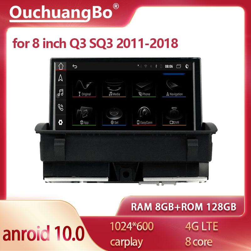 Автомагнитола Ouchuangbo, Автомобильная Мультимедийная система на android 10, экран 8 дюймов, 2011-2018, gps, 128 ГБ