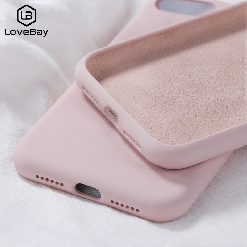 Soft Liquid Silicone Phone <font><b>Case</b></font> For <font><b>Samsung</b></font> Galaxy A30 A50 A70 M10 M20 Plain Candy Color For Note8 Note9 S8 S9 S10 Plus S10 Lite image