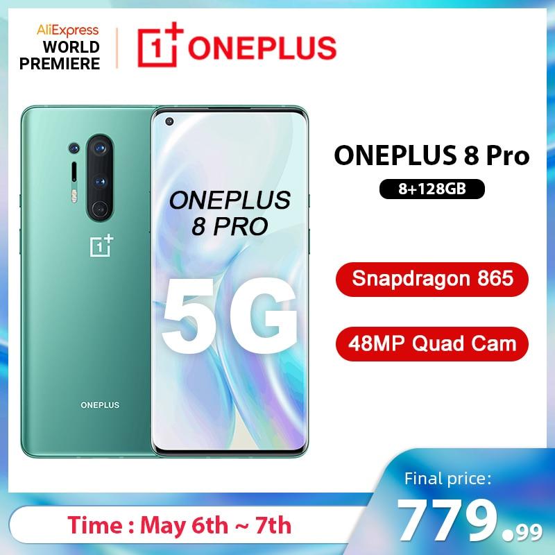 Global Rom Oneplus 8 Pro 5G Smartphone Snapdragon 865 8G 128G 6 87 120Hz Fluid Display