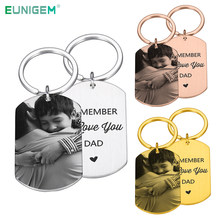 Custom DIY Photo Keychain I Love You Dad Picture Keyring Father's Day Gift Birthday Present for Father From Daughter Son