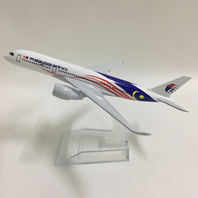 JASON TUTU 16cm Malaysia Airlines Airbus A350 Plane Model Airplane Model Aircraft Model 1:400 Diecast Metal Planes Toy