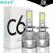 2PCS Car headlight Mini Lamp H7 LED Bulbs H4 H1 H8 H11 Headlamps Kit 9005 HB3 9006 HB4 For Auto 12V 72W 7600LM