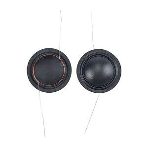 Image 4 - 25.5 Core 25.4mm רמקול סליל קול 4ohm טרבל משי סרט סליל שמאל ימין לשקע לתיקון 4 אינץ הטוויטר רמקול חלקי 2pcs