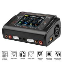 Lipo Charger Original HTRC T400 Dual Channel Touch Screen Balance Discharger AC 200W DC 400W Battery Charger For RC Model Toys