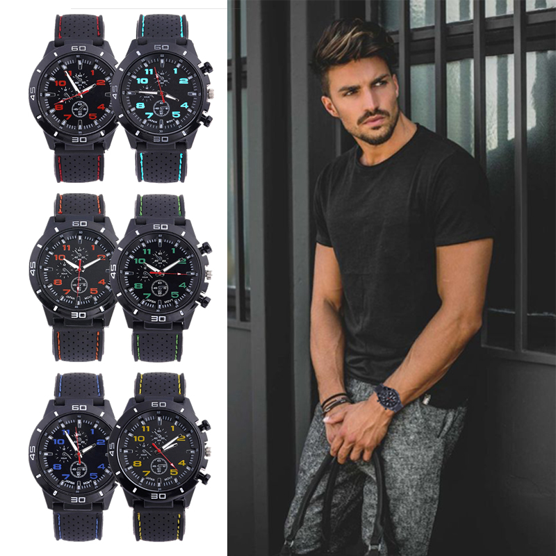 Watches Men Band Quartz Business Sports Silicone Relogio Masculino Casual Fashion Outdoor