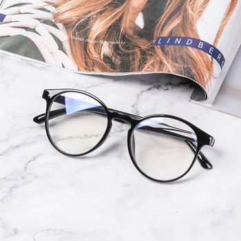 2020 Eyewear Frame Anti Blue Light Game Glasses Computer Glasses Anti Glare Eyeglasses Frame Women Round Clear Lens Glasses image