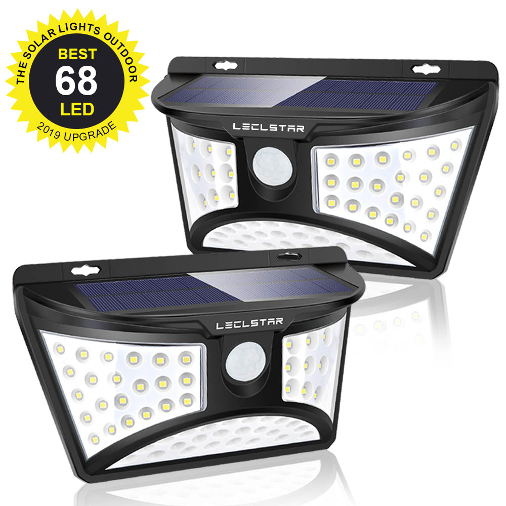 ソーラー Led ガーデンライト防水屋外装飾ワイヤレスソーラー LED 芝生ランプセンサーフェンス壁ヤードライト - Leclstar Official Store