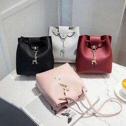 Borla do vintage crossbody balde saco mulher de luxo bolsa ombro feminino bolsas cordão mensageiro sacos crossbody sac principal