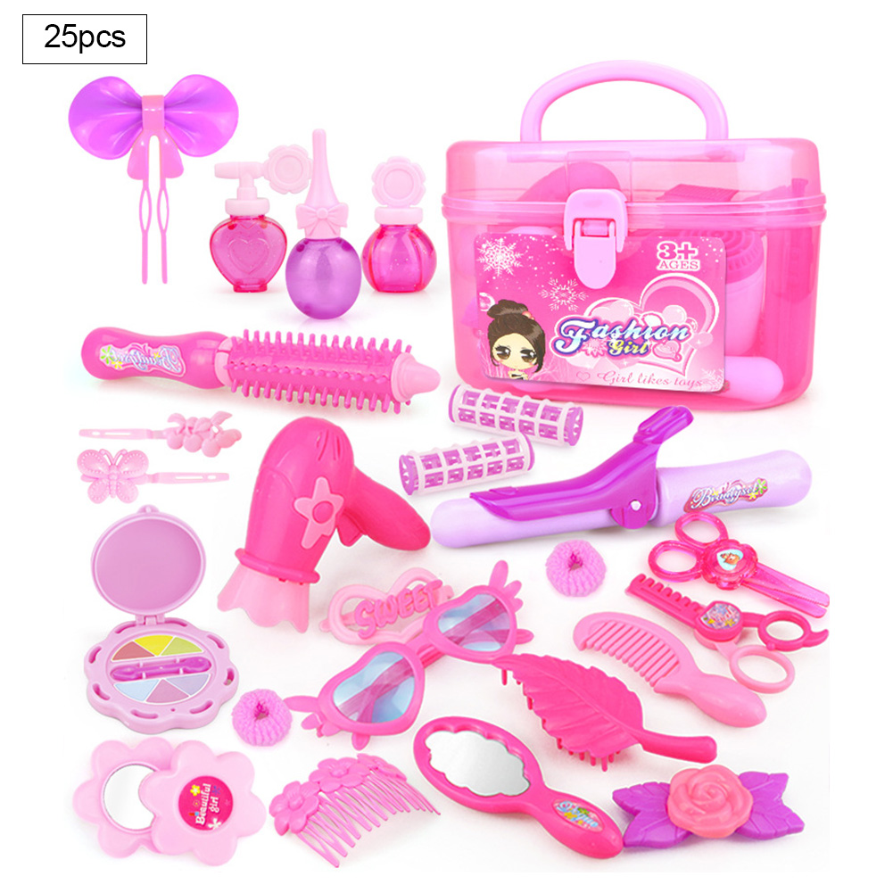 Girls Pretend Playing Cosmetics Bag Toy 3-7 Years Pretend Toy Set Children Portable Dressing Makeup Toy