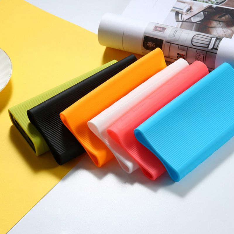Portable Silicone Protective <font><b>Case</b></font> Cover Skin Shell Protector <font><b>for</b></font> <font><b>Xiaomi</b></font> <font><b>20000mAh</b></font> <font><b>Power</b></font> <font><b>Bank</b></font> 3nd Generation Accessories image