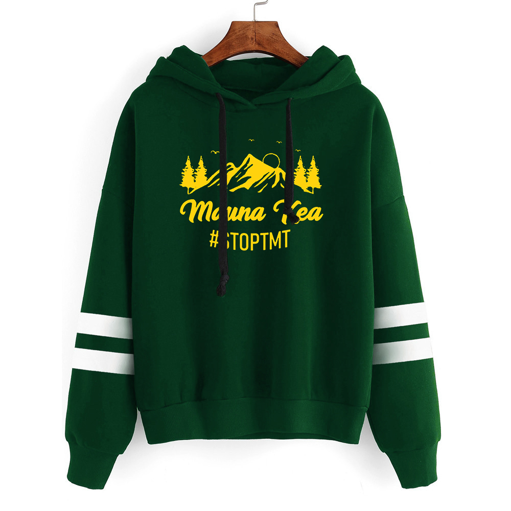 We Are Mauna Kea Hoodies Plus Size Sweatshirt 2019 Gothic Clothes Print Pullovers Women Pink Clothing Mountain