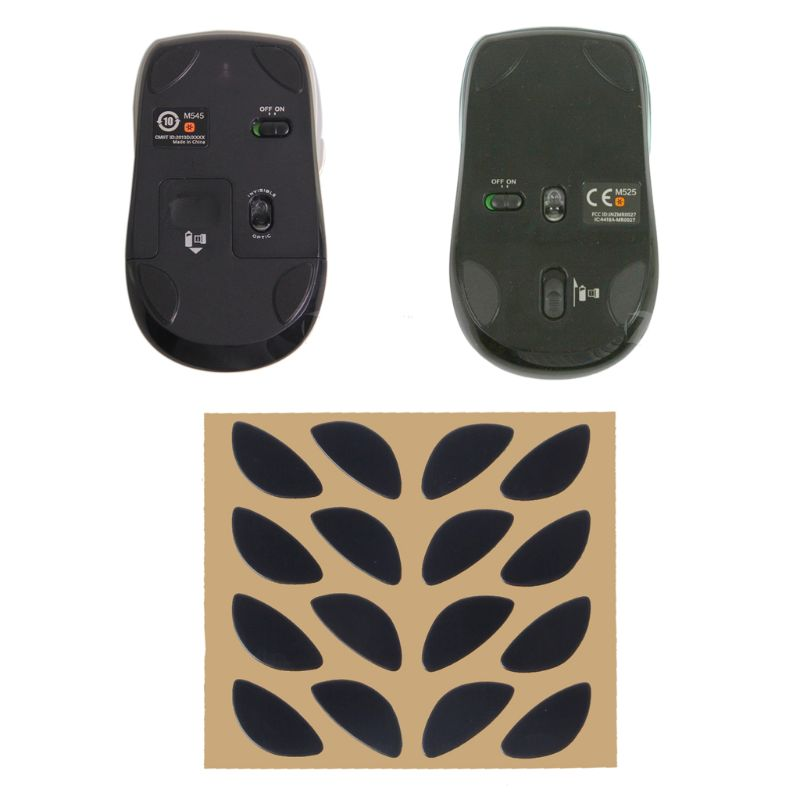 4 Sets/Pack Original Hotline Games Competition Level Mouse Feet Mouse Skates Gildes For Logitech V320 V450 M505 M525 M545 Mouse