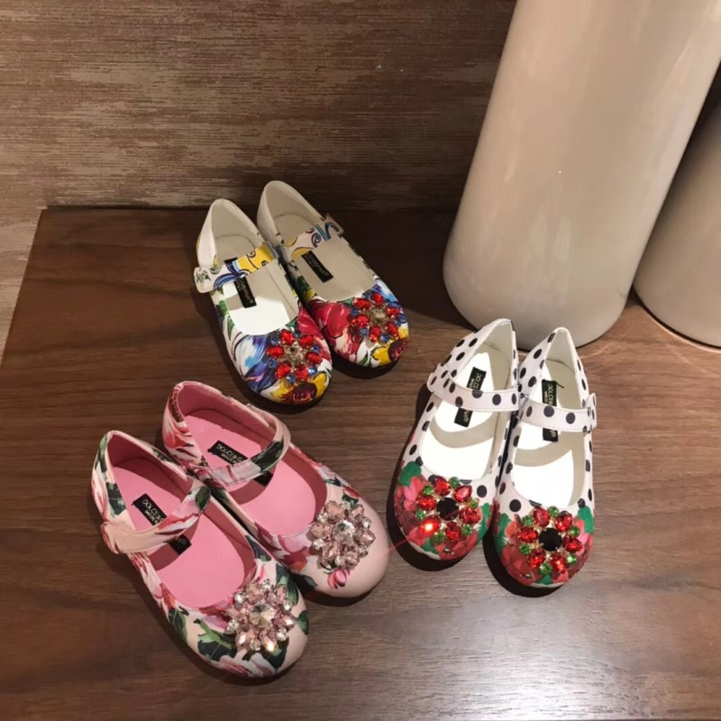 Girls Princess Shoes 2020 New Summer Fashion Kids Pink&Blue Flower Princess Flat Girl Shoes EU 26 35| | - AliExpress