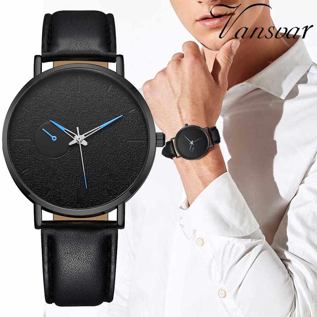 นาฬิกาข้อมือชายนาฬิกา relogio masculino Casual ควอตซ์หนัง Newv นาฬิกานาฬิกาข้อมือผู้ชายแบบแอนะล็อกนาฬิกา