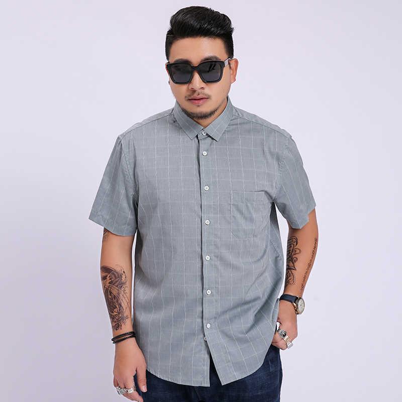 2020 novos homens super grande moda masculina de algodão oversized formal verão camisa masculina manga curta alta qualidade plus size 8xl 7xl 6x