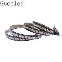 Bande lumineuse RGB Led intelligente, adressable individuellement, noir/blanc, PCB, étanche IP30/144 DC5V, 1m, 65/67 diodes/M WS2812B WS2812