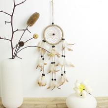 Europe Pastoral Style Dream Catcher Handmade Hanging Dreamcatcher Wind Chimes Feather Pendant Party Gift Home Decoration