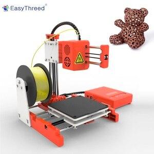Image 2 - Маленький мини 3D принтер EasyThreed, дешевый пла смолы FDM мини принтер 3d, Бразилия, склад в Европе, 3D принтер X1