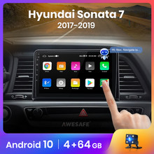 AWESAFE – autoradio PX9 Android 2017, 2 go/32 go, GPS, 2 din, lecteur multimédia vidéo, pour voiture Hyundai Sonata 7 LF (2019 – 10.0)