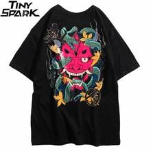 2020 hip hop t camisa masculina cobra fantasma camiseta harajuku streetwear tshirt algodão manga curta verão topos t hiphop voltar impresso