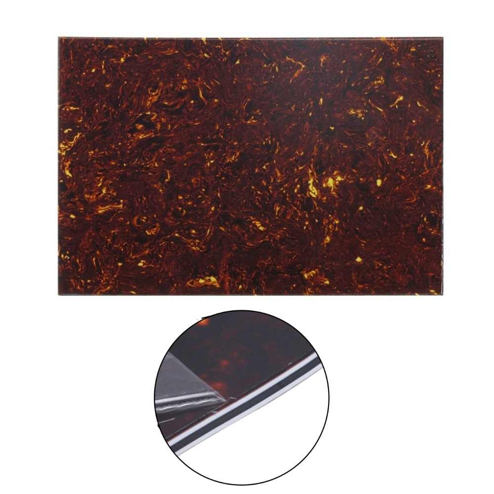 FLEOR Brown Tortoise Shell 4Ply Guitar Pickguard Scratch Plate Blank Material Sheet 43x29x0.23cm for Electric Guitar Parts
