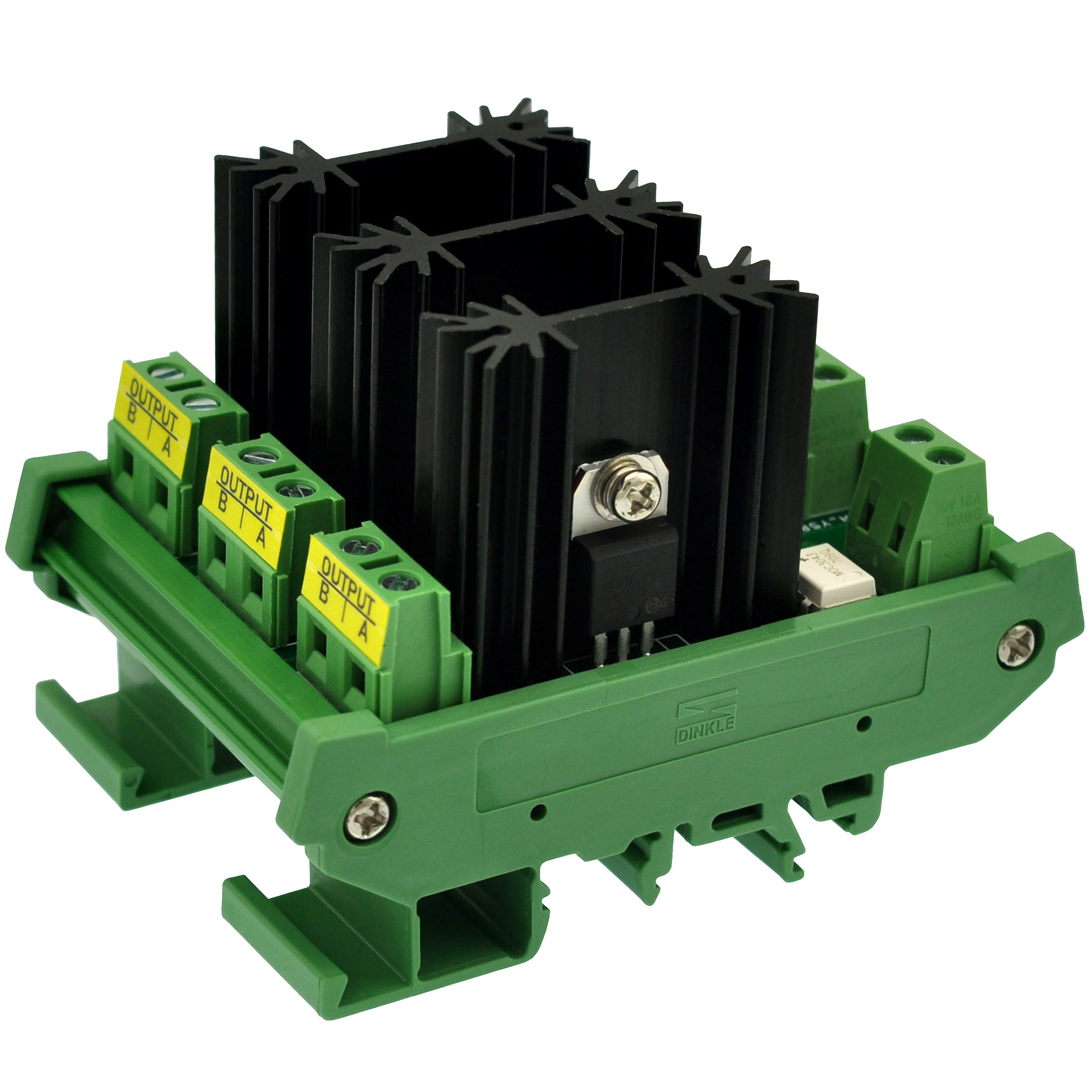 CZH-LABS DIN Rail Mount 8 Amp Solid State Relay SSR Module, In 4~32VDC, Out 100~240VAC. (3 Channels)