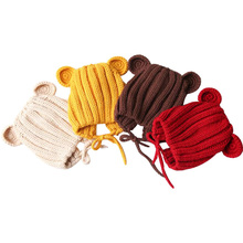 Baby Hat For Girls Boys With Ears Autumn Winter Knitted Baby Cap Kids Hats New Fashionable