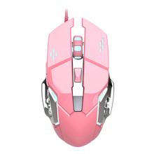 цена на Girls 3200DPI USB Wired Optical Gaming Mouse 6 Buttons Ergonomics Gamer Laptop PC Mice