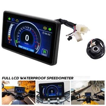 Motorcycle Multi-function Instrument For 1,2,4 Cylinder LCD Display Speedometer Tachometer Odometer Indicator Digital Gauge