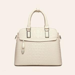Image 3 - ワニのパターン革ハンドバッグの女性のバッグ新シンプルなための女性高品質の女性のメッセンジャーショルダーバッグ HC258