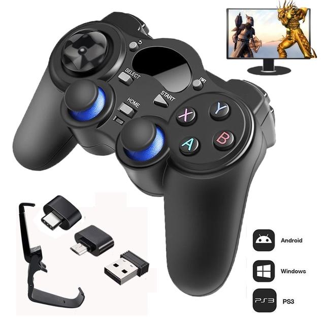2.4G Controller Gamepad Android Wireless Joystick Joypad con OTG Converter Per PS3/Smart Telefono Per Tablet PC Smart TV Box 1
