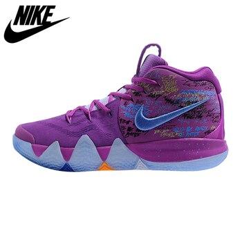 Nike Kyrie 4 Irving 4th Nesil Konfeti Erkek Basket Topu Ayakkabı, Mor, şok Emme Aşınmaya Dayanıklı Sarma