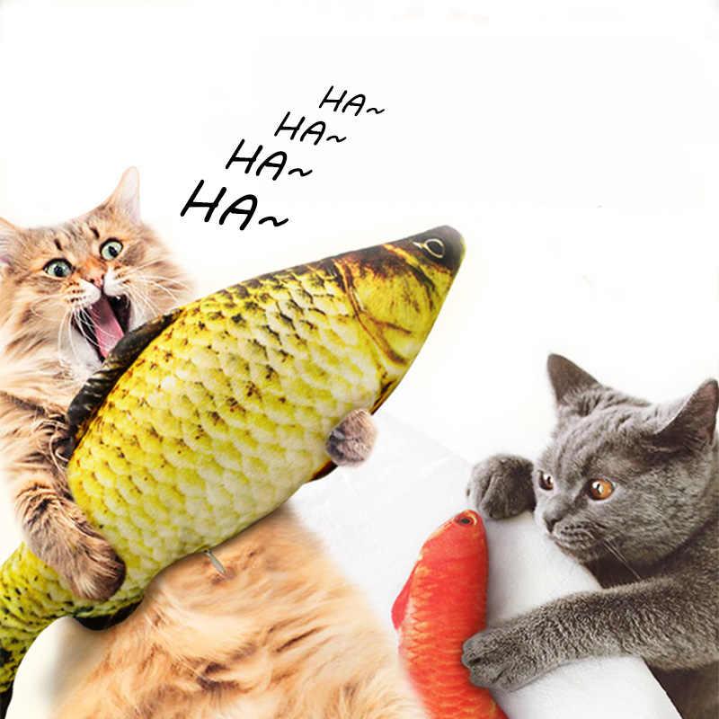 봉제 크리 에이 티브 3d 물고기 모양의 고양이 애완 동물 강아지 장난감 고양이 장난감 개박하 고양이 장난감 선물 베개 애완 동물 용품을 가득
