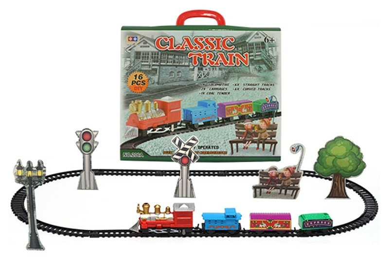Model Electric Camera Track Classical Model Toy High-Speed Rail Small Train Children Vintage Steam Train Toy Boy