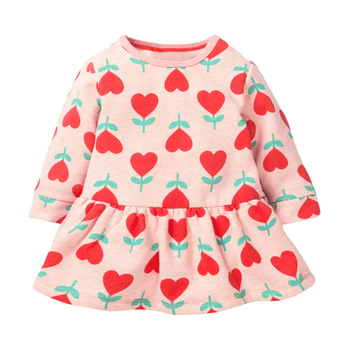 1-7 Years Baby Girl Dress Cotton Doll Collar for Kids Long-sleeved Corduroy Clothes for Toddler Girl  for Autumn and Spring 2020 - Color 6, 18M