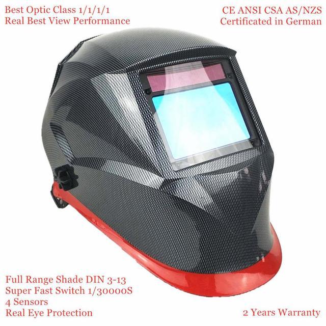 Сварочный шлем высшего оптического класса 1111 полный оттенок 3 13 Область обзора 100x65 мм Сварочная маска