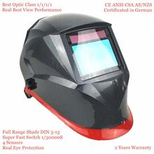 Welding Helmet Top Optical Class 1111 Full Shade 3 13 Viewing Area 100x65mm Welding Mask