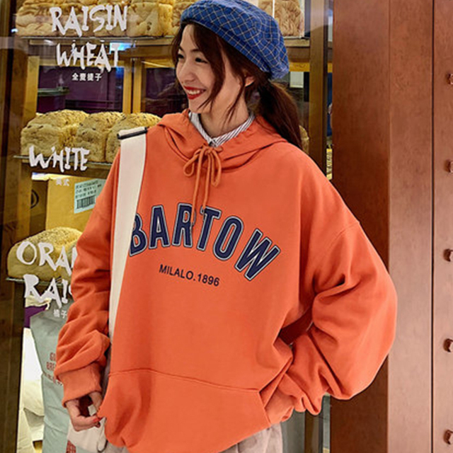 Bluza z kapturem kurtka luźne studentów kobiet leniwy wiatr ins fala bluza z kapturem z kapturem ubrania streetwear dres top marcus kolor rozmiar