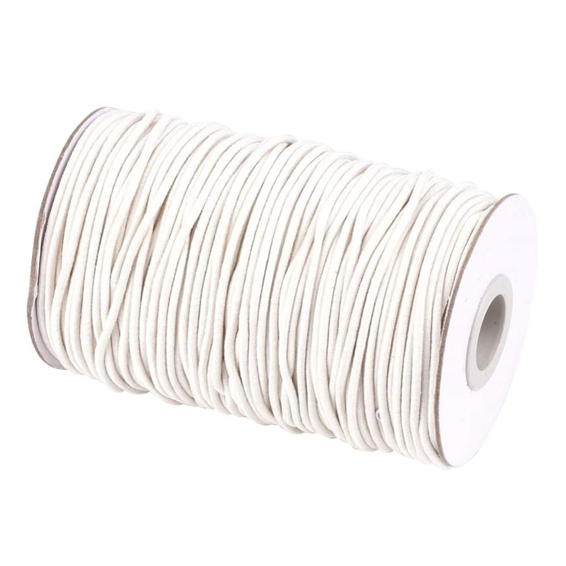 Pandahall 2mm Round Elastic Cord Rope For Mask Sewing DIY Jewelry Bracelet Making 70m/roll